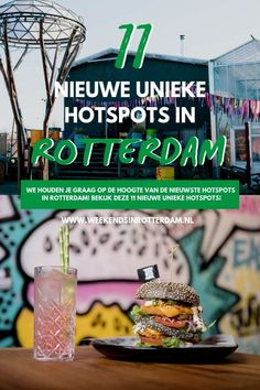 There are a lot of new hotspots in Rotterdam (the Netherlands). In this article we will keep you informed of all the new places in Rotterdam that you definitely want to visit. Be sure to check out this article for 11 new unique hotspots! European Destination, European Travel, Europe Travel Tips, Travel Destinations, Holiday Destinations, Travel Advice, Italy Travel, Travel Guides, Plant Based Snacks