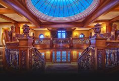 Grand staircase and dome. Titanic style.