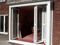 Bi-fold patio door. I love that you can open up a whole wall to the outdoors!