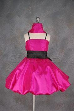 Charming Short/Mini-length Square Neckline Sash Flower Girl Dress Flower Girl Party Dresses - ericdress.com 1930330
