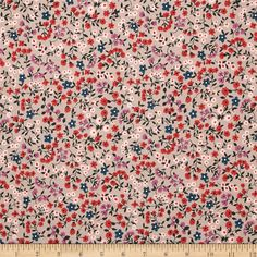 Cotton & Steel Lucky Strikes Clothesline Floral Pink from @fabricdotcom  Designed by Kimberly Kight for Cotton & Steel, this cotton print fabric is perfect for quilting, apparel, and home decor accents. Colors include cream, black, red, pink, light purple and turquoise.