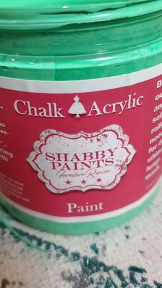 Emily Ann Chalk Acrylic Paint. Mint green chalk paint. Our paints are pure acrylic. This gives our paints superior adhesion and coverage. Our top coats require NO buffing. Give us a try, your gonna love it! Paint with Passion!