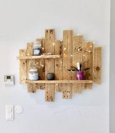 Tableau / Étagère murale en bois de palette NATURE & ZEN L80 | Etsy