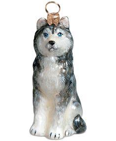 Joy to the World Pet Charity Ornament, Pet Set Siberian Husky