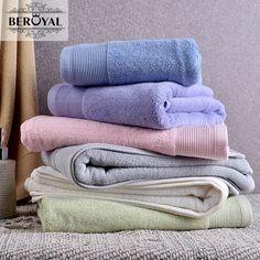 New 2017 Brand Beroyal Bath Towel -- 100% Cotton Towel Adult Solid Quick Dry Towel Thicker Towels Bathroom 70*140cm Beach Towel