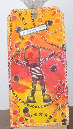 Artwork created by Sue  using rubber stamps designed by Daniel Torrente for Stampotique Originals