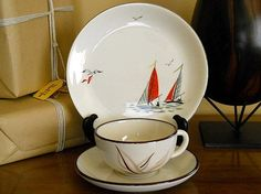 Alfred Meakin and Winfield Red Sails cup saucer by GooseVintage