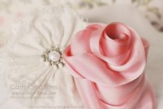 Cam Creations Hand-dyed Silk Ribbon-  Pale Dusty Rose (39V)