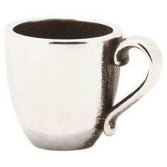 Trollbeads Coffee Mug Silver Bead Cup
