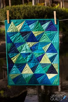 The second of my new mini patterns to share with you is Mini Stereo!        Quilt Details     Fabric is  Kona Solids  by Robert Kaufman Fabr...