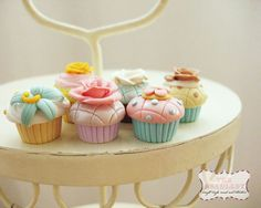 Polymer Clay Ideas Cupcake and dessert