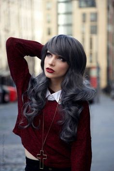 pewter hair color - Google Search