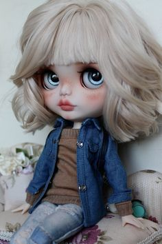 Elise Custom Blythe Doll OOAK Art Doll by NDsDazzlingDollys