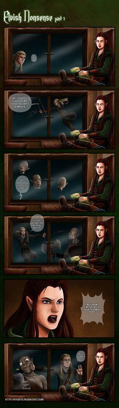 Elvish Nonsense (Part1): But Tauriel by ryodita.deviantart.com on @DeviantArt