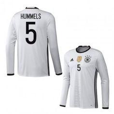 Tyskland 2016 Hummels 5 Hemmatröja Långärmad