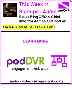 #MANAGEMENT #PODCAST      E700: Ring CEO & Chief Inventor James Siminoff on reinventing home security with 1st wi-fi-enabled video doorbell, reducing neighborhood crime, & the future of home au    READ:  https://podDVR.COM/?c=25d54300-3a8c-1df5-d143-20a0a090e71a