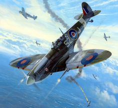 Vintage Aircraft – The Major Attractions Of Air Festivals - Popular Vintage Ww2 Aircraft, Fighter Aircraft, Military Aircraft, Air Fighter, Fighter Jets, Supermarine Spitfire, Ww2 Spitfire, Aircraft Painting, Airplane Art
