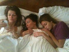 The Banshee gals- Ivana, Trieste, and Lili- catch some shut-eye