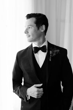 Black Tie Grooms portrait at the Bryant Park Hotel in NYC by Jessica Haley