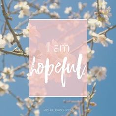 Happy Monday! I chose 'I am hopeful' for this week's #MondayMantra. What are you hopeful for in 2017?