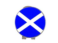 UK Golf Gear - Magnetic Hat Clip and Scottish Flag Ball Marker by Mercia Golf.
