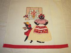 Vintage Black Americana Towel Little Girl by unclebunkstrunk, $47.99