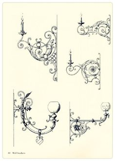 Victorian wall brackets for oil lamps and candles...