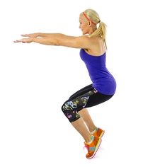 Tip Toe Squats: Yes, you can squat on your toes. This move is an offshoot of a yoga pose that really puts a lot of tension on your thighs. B...
