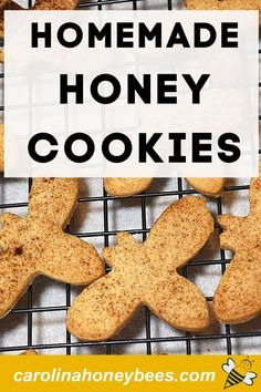Easy to make honey cookies in a fun bee shape.  These sugar cookies are made with honey instead of regular sugar - and who doesnt love a bee shaped cookie?  #carolinahoneybees #cookiesforchristmas #honeycookies Honey Cookies, Sugar Cookies, Cooking With Honey, Recipe Using Honey, Lime Shrimp Recipes, Easy Starters, Best Honey, Honey Recipes, Shaped Cookie