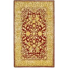 Safavieh Handmade Silk Road Maroon/ Ivory New Zealand Wool Rug (2'6 x 4') (SKR213G-24), Size 2'6 x 4' (Cotton, Border)