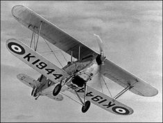 Hawker Fury I. Introduced in Powerplant: Rolls Royce Kestrel IIS inverted producing 391 kw hp). Max Speed: 333 km/h mph). Hawker Hurricane, Aviation Image, Ww2 Aircraft, Planes, Trains, Fighter Jets, Machine Guns, Rolls Royce, Models