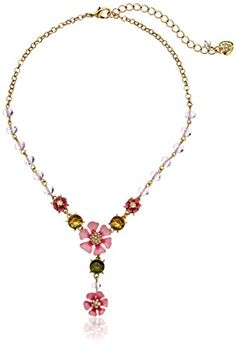 "Betsey Johnson ""Spring Glam"" Flower Y-Shaped Necklace, 19"" Betsey Johnson http://www.amazon.com/dp/B00H4GA10C/ref=cm_sw_r_pi_dp_puICvb1HQA209"