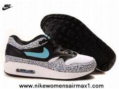 Cheap Nike Air Max 1 87 Mens Shoes Black White 2013 Free Shoes