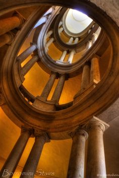 The stairs are in Palazzo Barberini, Rome (Francesco Borromini, about 1630), province f Rome Lazio region Italy