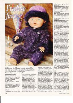 Album Archive - Dukketøj til Baby Born 2 - Ingelise Knitting Dolls Clothes, Doll Clothes Patterns, Doll Patterns, Clothing Patterns, Pixie, Baby Born, Baby Knitting Patterns, Reborn Dolls, Barbie Dolls