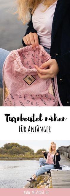 Turnbeutel nähen mit der Nähzeitschrift Tillisy. Bestes Einsteigerprojekt für Nähanfänger. Schnell und einfach genäht. Eine schöne Nähinspiration aus Schweden. #nähen #turnbeutel #anfänger #rucksack #schweden Easy Crafts, Cinch Bag, Simple
