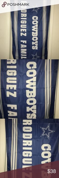 "Dallas cowboys personalized team flag NIP for sale is a brand new, in the package, dallas cowboys, personalized team flag. The flag says ""Rodriguez Family""   Flag measures appx 3 feet X 5 feet   Show your love and respect for the Dallas Cowboys and your family name! (RODRIGUEZ)   If you have any questions or would like additional photos please feel free to ask. NFL Accessories"