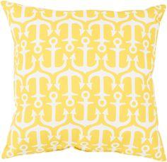 Rain Throw Pillow Yellow, Neutral