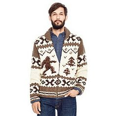 Sasquatch Zip Cardigan - I really need to knit this for Mark, but maybe I'll just let Fossil do it. $168