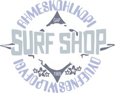 High Quality Guaranteed,create a gift with The symbol of surf shop Design logo on t shirts or phone cases from HICustom.net .24 hour service available.
