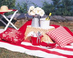 a red and white picnic!