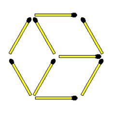 Matchstick Puzzles: 344. Cube to triangles