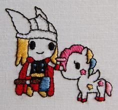 Tokidoki Thor Embroidery - NEEDLEWORK