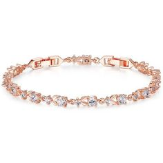 Bracelets BAMOER 6 Colors Luxury Rose Gold Plated Chain Link Bracelet for Women Ladies Shining AAA Cubic Zircon Crystal Jewelry -- This is an AliExpress affiliate pin. Details on product can be viewed on AliExpress website by clicking the image Gold Plated Bracelets, Crystal Bracelets, Link Bracelets, Crystal Jewelry, Bangle Bracelets, Gold Jewelry, Women Jewelry, Jewelry Accessories, Ladies Bracelet