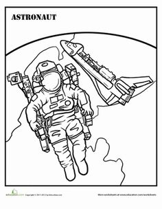 Outer Space Coloring Pages: Rockets, Shuttles, UFOs and