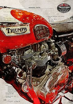 Triumph Bonneville 1969 Metal Print by Yurdaer Bes Indian Motorcycles, Triumph Motorcycles, Vintage Motorcycles, Motorcycle Posters, Motorcycle Design, Motorcycle Bike, Motos Vintage, Vintage Bikes, Retro Bikes