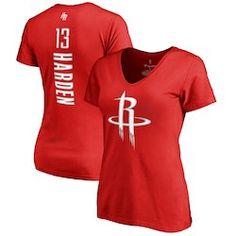 854e9d1cafc Women s Houston Rockets James Harden Fanatics Branded Black Backer Name    Number Long Sleeve T-Shirt