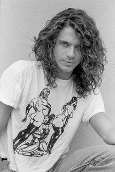 Colored bw photo of Hutchence Michael Hutchence, Beautiful Men, Beautiful People, Lynn Goldsmith, Morrison Hotel, Celebrity Photography, We Will Rock You, Post Punk, Jimi Hendrix