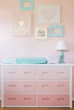 Diy Ombre Dresser: tutorial at madetobeamomma.com