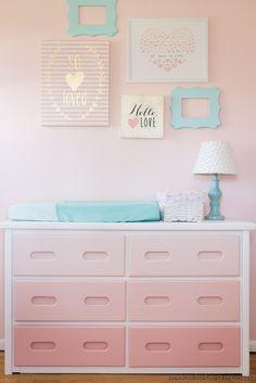 Diy Ombre Dresser: tutorial at madetobeamomma.com